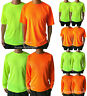 2PCS Hi Vis High Visibility T Shirt Non ANSI Long Sleeve Safety Work Tee Shirts