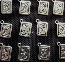 8 carta de tarot Dijes De Metal Plateado de 18 mm