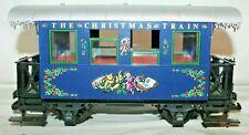 "RARE BEAUTY LGB # 35073 ""THE CHRISTMAS TRAIN"" BLUE PASSENGER CAR~G Gauge~VG Cond"