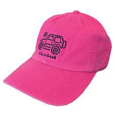 *RARE* Life is Good Womens NATIVE JEEP Off Road Hat Chill Cap PINK Unisex *