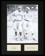 "Ty Cobb Babe Ruth 11x14 Matted Photo Hand Written Signed ""The railroads"" JSA"