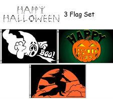 3x5 Happy Halloween 3 Flag Wholesale Set #6 3'x5' House Banner Grommets
