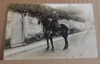 Postcard  WW1 Soldier on Horseback  Real Photo unposted