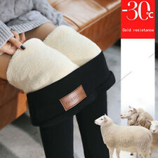 AU Women Thermal Thick Warm Fleece lined Fur Winter Tight Pencil Leggings Pants