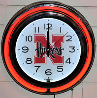 Southern Miss Golden Eagles HBS Neon Yellow Battery Powered Wall Clock 15 Holland Bar Stool Co