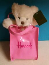 """Harrods bear 8"""" in Harrods bag 12""""NEW WITH TAGS!!"""