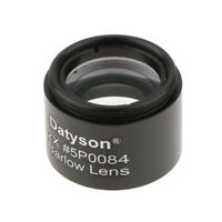 1.25inch 2X Barlow Lens M28.6*0.6 Thread Metal for 31.7mm Telescope Eyepiece