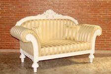 Barock Sofa Kanapee Couch Sessel Polstermöbel Antik Massiv Stil Art Vintage weiß