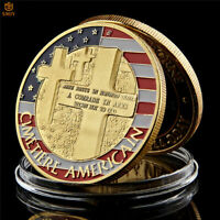 WW II Normandy Landing War Gold Plated Us Military Challenge Coin