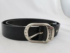 Harley-Davidson USA Embossed Tooled Black Leather Belt 37-44 with H-D Buckle