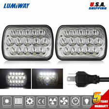 "Pair 7x6"" 5x7"" LED Headlights 150W H4 Hi-Lo Beam for Toyota Nissan Pickup Truck"