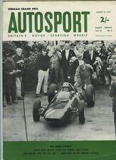 AUTOSPORT AGOSTO 10th 1962 * GRAN PREMIO DI GERMANIA & derrington MINI-MINOR *