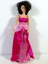DRESSED BARBIE DOLL IN HAPPY BIRTHDAY GOWN AND PINK SHOES