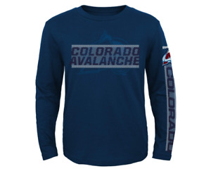 Reebok NHL Youth Colorado Avalanche Line Up Long Sleeve Tee, Navy