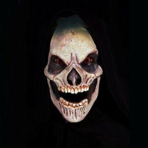 Skull Halloween Full Face Foam Latex Prosthetic Mask Unpainted FX Appliance