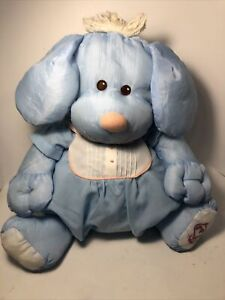 Fisher Price Vintage Blue Nylon 1986 Puffalump Puppy Dog Bear Clothes