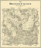 Denton Texas Landowner - General Land Office 1897 - 23 x 26.81