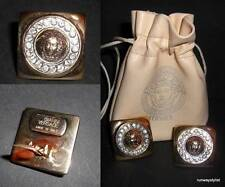 GIANNI VERSACE VINTAGE 1994 GOLD PLATED CRYSTAL MEDUSA HEAD EARRINGS-NEVER WORN