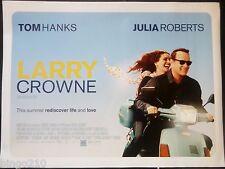LARRY CROWNE ORIGINAL 2011 QUAD POSTER TOM HANKS JULIA ROBERTS