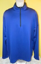 Men's Nike Golf Dri-Fit 1/2 Zip Long Sleeve Pullover Blue Size Large Embroidered
