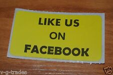 LOT OF 100 YELLOW LIKE US ON FACEBOOK  Shipping Stickers 2X1 INCH LABEL BOXES
