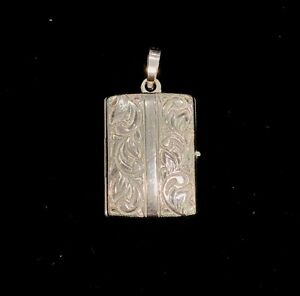 NEW Sterling Silver Locket Rectangle Photos Book Shape Family Love Memories