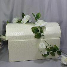 Geldbox Kartenbox Geschenkschachtel Truhe Zum Selbstgestalten creme Hochzeit L4