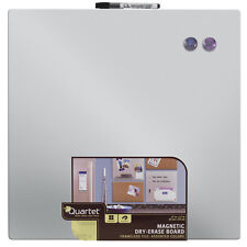 """Quartet Magnetic Frame-less Dry Erase Board, 17"""" x 17"""", Color May Vary (48116)"""