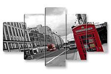 Quadro Moderno 5 pz. LONDRA 1 cm 150x90 London arredamento stampa su tela casa