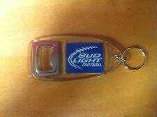 Bud Light Iconic Football Key Ring Bottle Opener - New