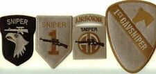 SPECIAL !  - 4x SNIPER PATCHES - 1st INF. DIV,  82nd & 101st ABN, 1st CAV. DIV