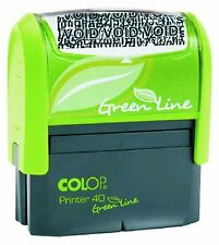 COLOP Green Line Id Protector Stamp - Black - Brand New Protect Your ID