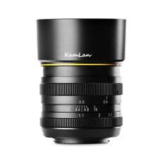 Kamlan 50mm F1.1 Aps-c Large Aperture Manual Focus Lens for Fuji FX Mount A5013