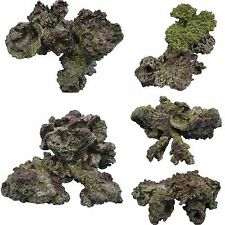 Resin Live Rock Decorative Pieces for Aquarium Fish Tank Coral Display