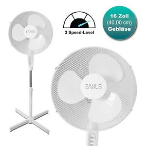 XXL Ventilator 40cm mit 3 Stufen Lüfter Kühler Wind 40Watt Standventilator Büro