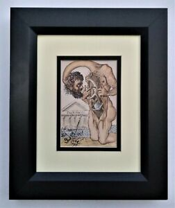 Salvador Dali Lithograph Art Signed Dated Framed