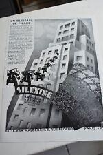 Ancienne publicité de presse - ENDUIT PLASTIQUE SILEXINE LA PIERRE SUR TOUT