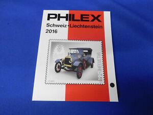 Briefmarken-Katalog Philex 2016  kpl. Schweiz- Liechtenstein  Marken farbig