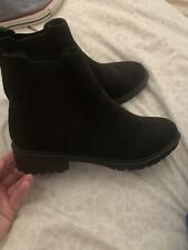 Black New Look Ankle Boots Size 5 NEW Vegan!