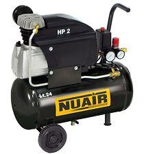 Compressore 2 Hp serbatoio 24 lt litri Nuair