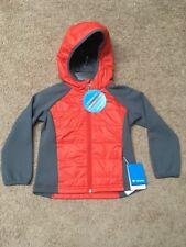 NWT Columbia Key Seeker Boys Hooded Full Zip Water Resistant Light Jacket Sz:4/5