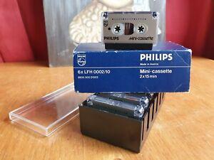 Vintage Boxed Philips LFH0002/10 Mini Cassette x6 2x15Mins Dictation Tapes