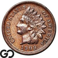 1909-S Indian Head Cent Penny, Low Mintage Avidly Pursued Key Date