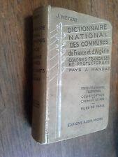 Dictionnaire national des communes de France et d'Algérie / Meyrat 1938