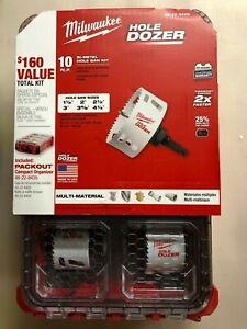 Milwaukee 49-22-5606 Packout Hole Dozer 10 pc Bi-metal Hole Saw Kit