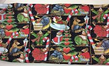 Daisy Kingdom Celebrate Your Socks Off AllOver Squares Fabric 4905 Christmas OOP