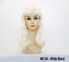LONG STRAIGHT HAIR WIG CHINA DOLL W/ BANGS BOTTOM WAVY SUSAN CELESTE LORRAINE