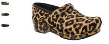 Dansko Professional Clog Leopard Haircalf Print Women's EU sizes 35-43/NEW