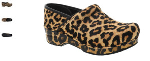 Dansko Professional Clog Leopard Haircalf Print Women's EU sizes 35-43/NEW!!!