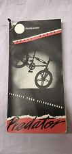"Old Bmx Schwinn predator Freeform Nos Owners Manual 20"" Freestyle Bike Yo gt cw"